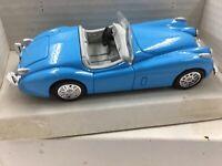 Die-Cast K-Line 1950 Blue Jaguar XK-120 Roadster 1:43rd Scale SS-48454