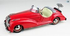 Vintage 1950s German Distler Wind-up Toy Red Mercedes Benz Convertible with Key