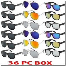 Aviator Wafare Sunglasses Bulk Lot Wholesale 36 Pc Box Mix All New Sunglass