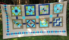 """New Handcrafted Sampler Quilt - 12 Different Blocks - Size 76"""" X 80"""""""