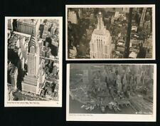 USA NEW YORK x3 Aerial view RP PPCs c1940/50s?