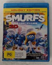 SMURFS: THE LOST VILLAGE - 3D + 2D Blu-ray 3-DISC Region A B C oz seller
