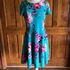 New without Tags Jessica Howard aqua green floral dress 12