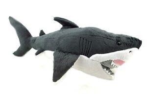 1 X LARGE PLUSH GREAT WHITE SHARK 55CM giant teddy kids soft stuffed christmas