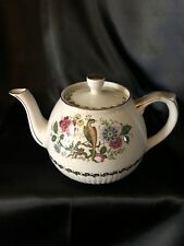 Ellgreave Woods & Sons Vintage Ironstone Teapot with Gold Trim