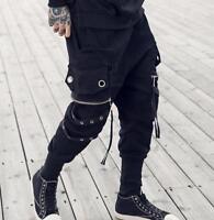Mens Punk Loose Black Harem Pants Zip Hip-hop Dance Street Trousers Club hot New