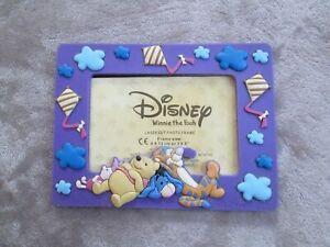 """DISNEY Winnie the Pooh Purple Photo Frame Frame Size 8 x 13cm 3 x 5"""""""