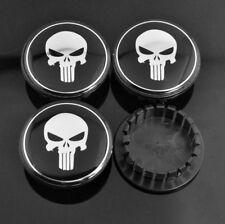 4pc 59mm (46mm) Punisher Wheel Center Cap Emblem for 9594156 Impala Cobalt Cruze