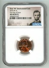 2019 W LINCOLN CENT 1C UNCIRCULATED NGC MS68RD PL FIRST DAY OF ISSUE 4966453-037