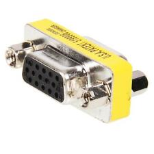 15 Pin Conector Vga SVGA Adaptador de cambiador de género Acoplador F/F Hembra a Hembra