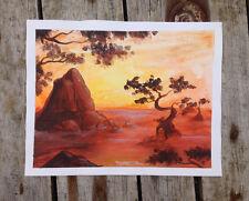 Oeuvre originale signée - peinture unique -  japon zen art toile canvas bonsai