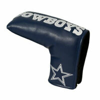 Team Golf USA 32350 Dallas Cowboys NFL Football Vintage Blade Putter Cover, Blue