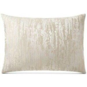 Hotel Collection Distressed Chevron King Pillow Sham Champagne Cream Gold