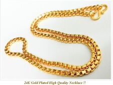 "22K 23K 24K Chain Necklace THAI BAHT INDIAN GOLD GP 18"" Jewelry"
