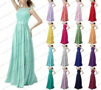 Long Chiffon Evening Formal Wedding Party Ball Gown Prom Bridesmaid Dress SZ6-18