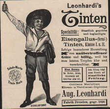 DRESDEN, Werbung 1896, August Leonhardi's Eisengallus Schreib-Kopier-Tinten