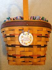 Longaberger Easter Basket- Lg. w/ Tie-On and Fabric Liner- 1996