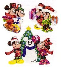Sandylion Vintage MICKEY MINNIE CHRISTMAS Stickers 1 Square RETIRED
