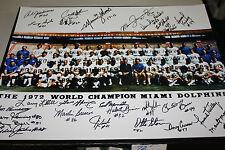 1972 MIAMI DOLPHINS TEAM SIGNED 16X20 PHOTO (27 AUTOS!)17-0  PERFECT SEASON