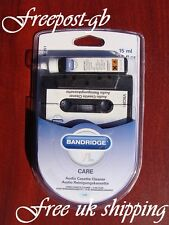 AUDIO CASSETTE HEAD CLEANER - WET OR DRY USE - TOP GRADE BANDRIDGE CARE