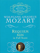 Mozart Requiem K.626 Miniature Score Vocal Choral Learn Sing Play Music Book