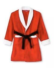 Intimo For her Santa Claus Fleece  Robe Christmas Red Bathrobe  Sz S