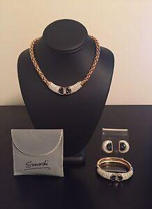 Swarovski 1980's Necklace Bracelet Earrings Set