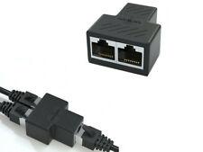 Adaptador divisor hembra RJ45 de 1 a 2 vías conector de Cable de red LAN