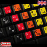 German Learning Multi-Coloured Keyboard Stickers Laptop Notebook PC Computer