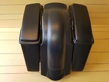 "HARLEY DAVIDSON 4""STRETCH BAGS,LIDS AND REAR FENDER NO CUT OUT INCLUDED"