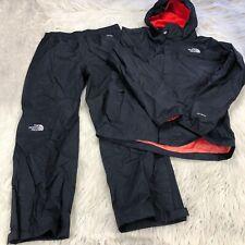 North Face Boys L 14 / 16 Black Hyvent Rain Suit Pants Hooded Jacket
