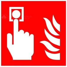 ISO Safety label Sign International Fire alarm call point Symbol