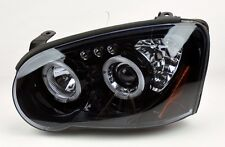 Glossy Piano Black Projector Halo Angel Eye Headlights Pair FITS Subaru WRX