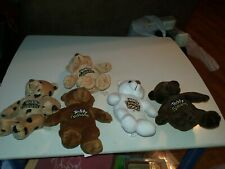 Complete set of 5 Teddy Grahams Beanie Babies