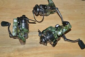 3 reels ardent edgewater reel spinning 4 +1 camouflage all used or not working