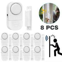 8 Alarme Maison San Fil Alarme de Sécurité Porte Fenêtre Antivol Anti-effraction
