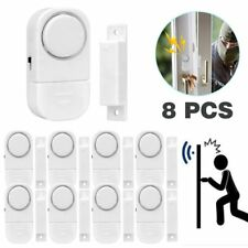 8 WIRELESS LOUD BURGLAR INTRUDER DOOR WINDOW HOUSE SECURITY SAFETY ALARM SENSOR
