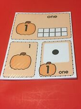 Pumpkin Theme - Number Card Kit , Numbers Counting Cards  1-20 Laminated