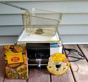 Presto Vintage 6-Qt Automatic/Large Deep Fryer-Temp Controls/Basket-Model S-40A