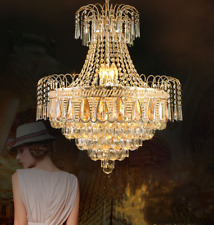 Gold Luxury Crystal Chandelier Home Lighting Ceiling Fixtures Decor Pendant Lamp