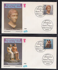 253) Germany Berlin 1984 4x First Day Cover Fine Art treasures of Berlin Museums