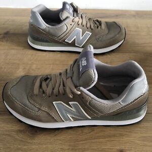 New Balance 574 Lace Up Suede Trainers Size UK 6 (eur39.5) Men's In Brown/Grey