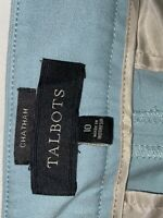 Talbots Chatham Ankle Dress Pants Sz 10 Light Blue Career Stretch Flat Front