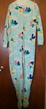 Joe Boxer Fleece Rubber Duckie Pajamas With Feet Connected Size Extra Large