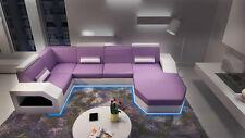Ledersofa Eck Sitz Polster Sofa Couch Garnitur Wohnlandschaft U Form MadagaskarU