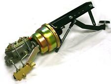 """Universal Firewall Mount Power Brake Pedal 7"""" Dual Booster Master Disc Drum Kit"""