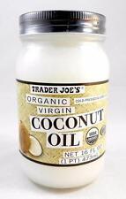 Trader Joe's Organic Virgin Coconut Oil Cold Pressed & Unrefined 16 fl oz Jar