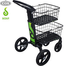 Scout Cart Folding Black Trolley that's Compact & Collapsible cart w/ Baskets