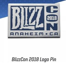 BlizzCon 2018 Logo Pin Blizzard Exclusive Limited Edition Overwatch Warcraft NEW