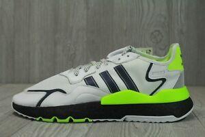 64 Adidas Nite Jogger White Mens Boost Shoes SZ 11.5-14 Reflective Lime EG6749